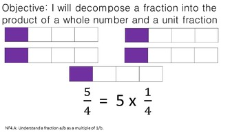 PowerPoint: Decompose a Fraction into a multiplicaiton equation