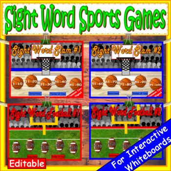Fry Sight Words Sports Growing Bundle