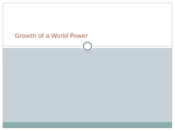 PowerPoint Growth of a World Power