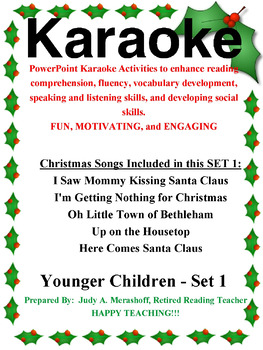 PowerPoint Holiday Karaoke Activities-Younger Students-Set 1