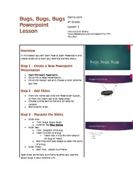 PowerPoint Lesson with Instructional Video - Customizable Version