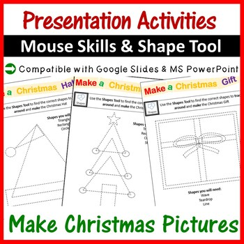 Microsoft PowerPoint Christmas Pictures using Shapes Tool