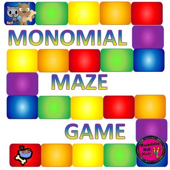 PowerPoint Monomial Maze Review game