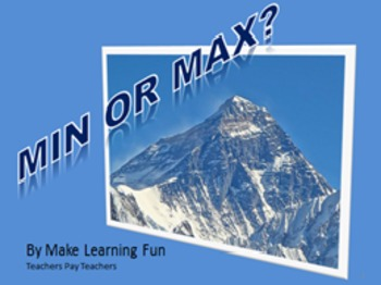 PowerPoint Parabola Min or Max Algebra Common Core HSF-IF.C.7a