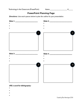 PowerPoint Planning Page