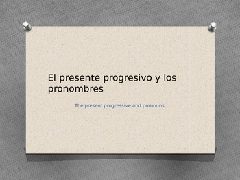 PowerPoint Present Progressive with Direct and Indirect Ob