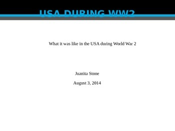 PowerPoint Project for World War II