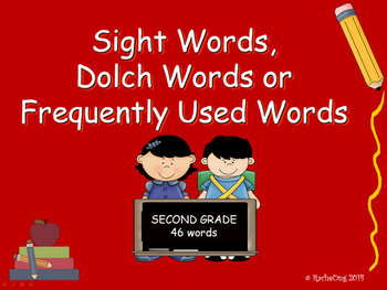 PowerPoint Slide Show - Sight Words: Second Grade