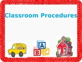 PowerPoint Template Back to School Teach Classroom Procedures