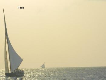 PowerPoint Template: Beidge sail boat