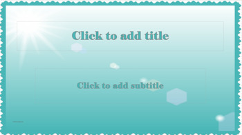 PowerPoint Template - Teal light and life