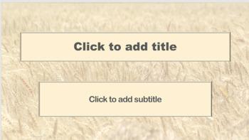 PowerPoint Template - Wheat Field