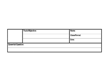PowerPoint Version of Blank Cornell Note Template