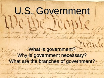 PowerPoint:  What is Government