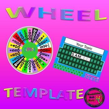 PowerPoint Spin the Wheel Vocabulary game template by Manipulating ...