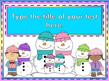 PowerPoint Winter Themed Test Template
