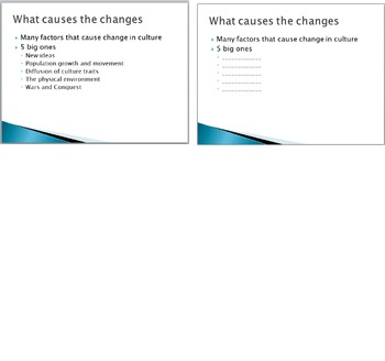 PowerPoint and PowerPoint note pages for Culture Unit Sociology