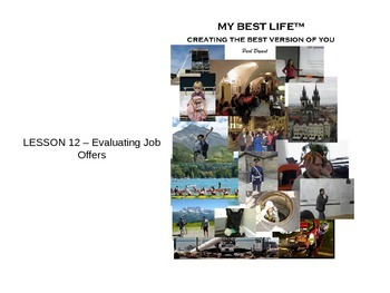 PowerPoint for Lesson 12 (Evaluating Job Offers) - My Best Life