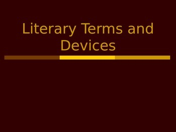 PowerPoint on Basic Literary Terms and Devices