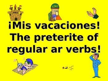 Spanish Teaching Resources. My Holiday/ Vacation & Preteri