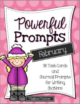 Writing Prompts-February {Task Cards and Journal Prompts f