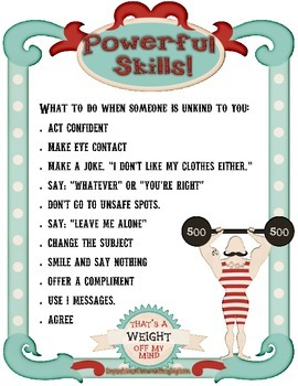 Powerful Skills Poster- Character Education