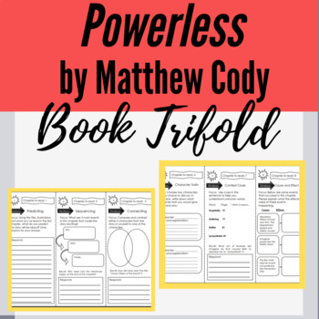 Powerless by Matthew Cody Tri-fold and Bookmark