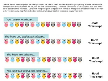 Powerpoint Classwork Timers (Owls in a Row)