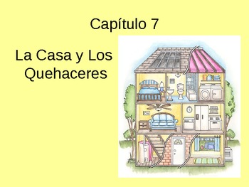 Powerpoint: House and Chores vocabulary