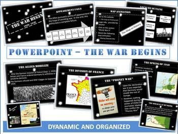 World War Two Begins Powerpoint: 15 Vivid Slides of the Ro