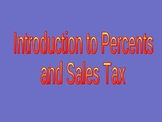 Powerpoint Lessons on Percents, Sales Tax and Discounts