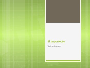 Powerpoint- Spanish IMPERFECT verb tense with habitual act