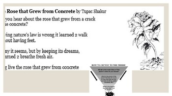 Powerpoint for Poetry Theme worksheet