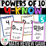 Powers of 10 Game for Math Centers or Stations