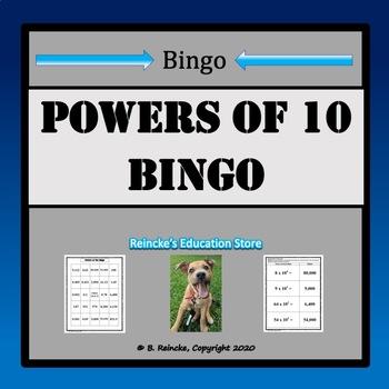 Powers of Ten Bingo (30 pre-made cards!)