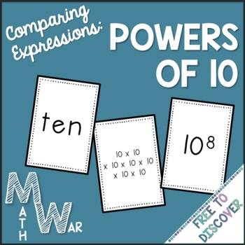 Powers of Ten Card Game