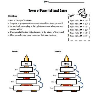 Powers of Ten Game 5.NBT.1