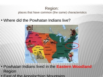 Powhatan Indians Introductory Powerpoint Lesson