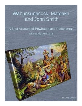 Powhatan, Pocahontas and John Smith