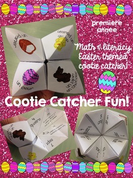 Pâques (paques) French Easter Cootie Catcher (math and lit