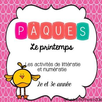 Pâques: Les activités de littératie et numératie (French E