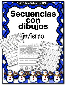 Práctica de secuencias con dibujos - Invierno