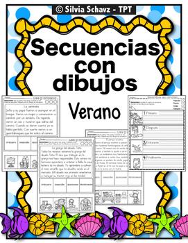 Práctica de secuencias con dibujos - Verano