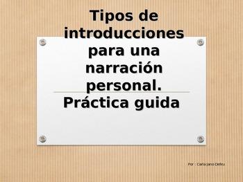 Practica tipos de introducciones para una buena composicio