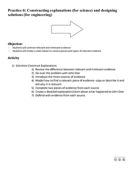 Practice 6: Constructing Explanations and Designing Solutions