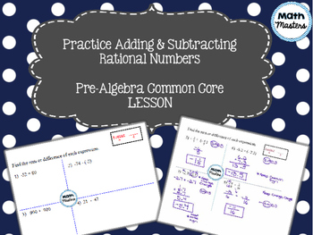 Practice Adding & Subtracting Rational Numbers