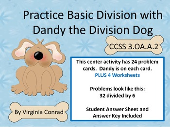Practice Basic Division with Dandy the Division Dog--Cente