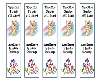 Practice Buddy Bookmarkers