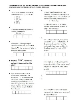 Practice EOC Test 1