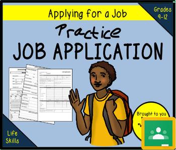 Practice Job Application - TRADER MOE'S